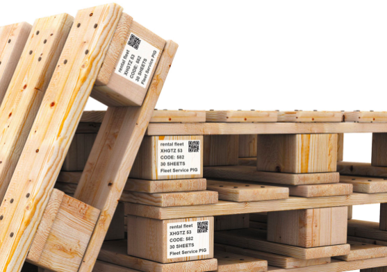 qr code stickers on pallets