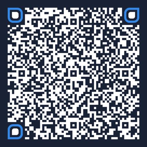 navy blue vcard qr code