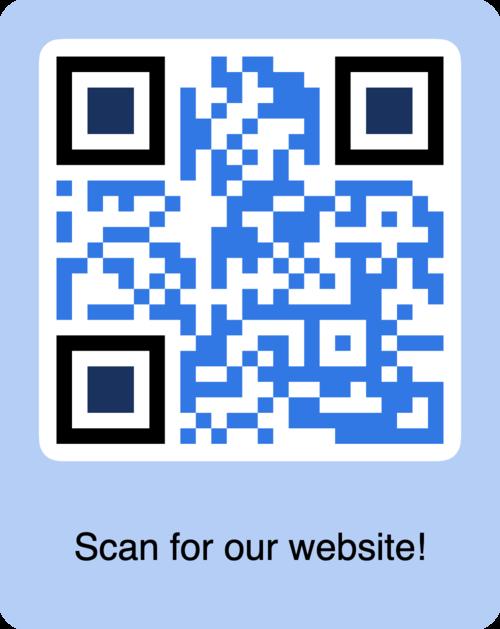 blue website url qr code