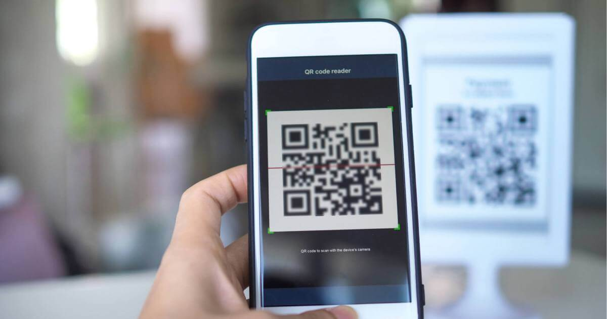 scanned qr code on your display