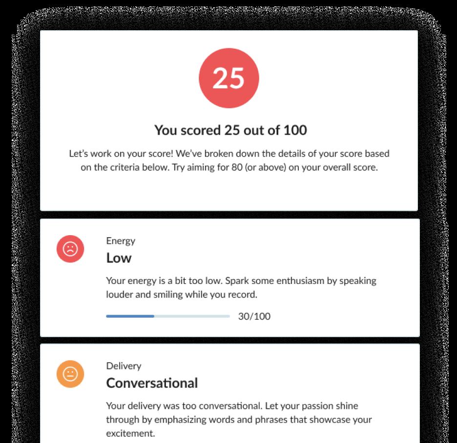 AI Interview response feedback