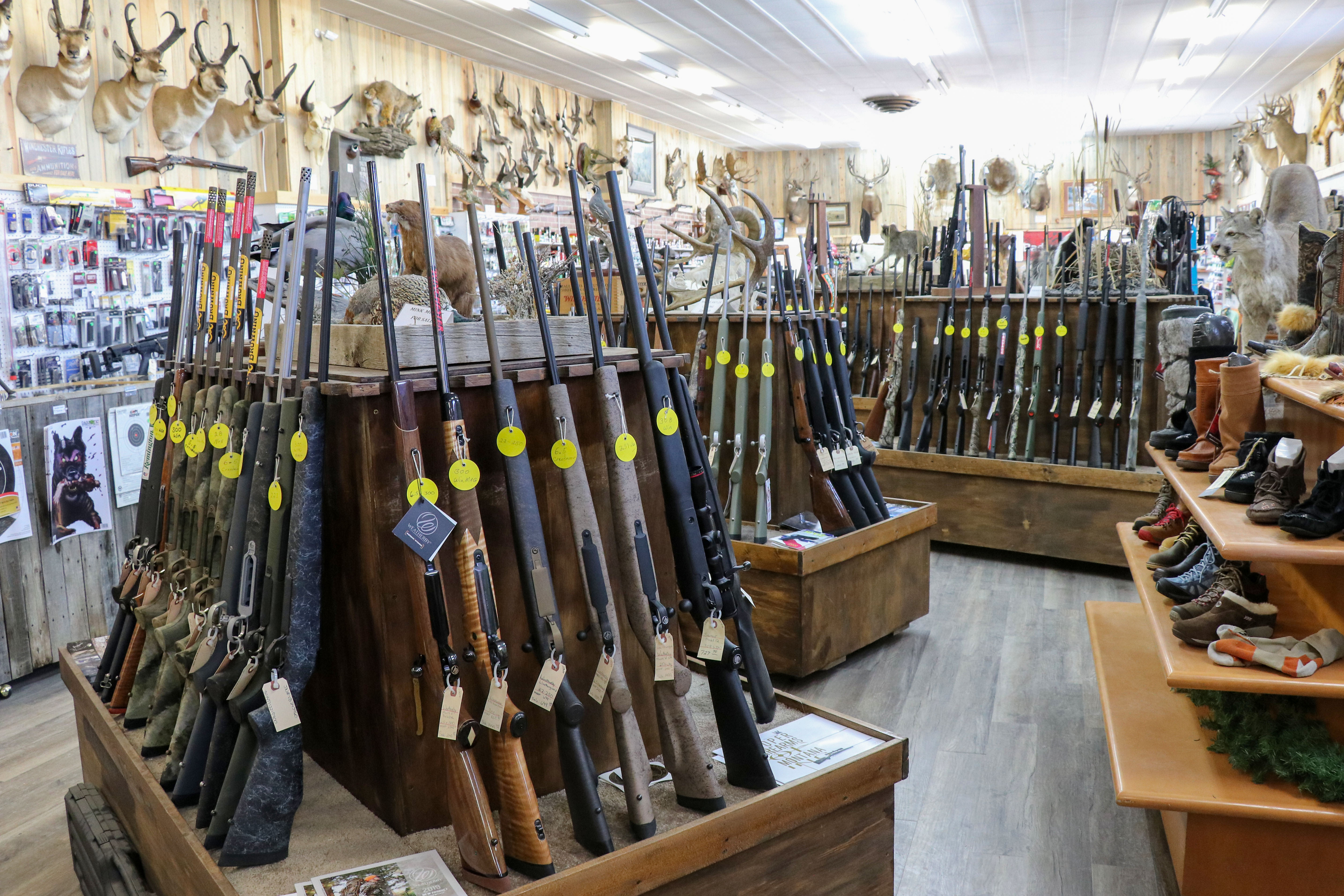 Large firearm selection