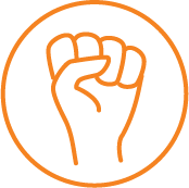 Icon for Action Areas (Clenched fist)