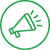 Icon for Newsletter (Bullhorn)