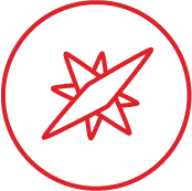 Icon for Principles (Compass Rose)