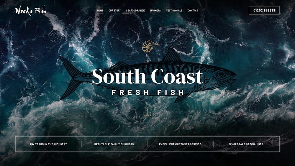Woods Fish Website Design