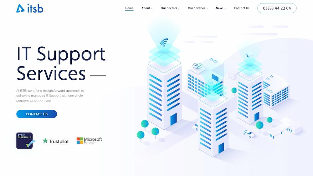 it support services website design