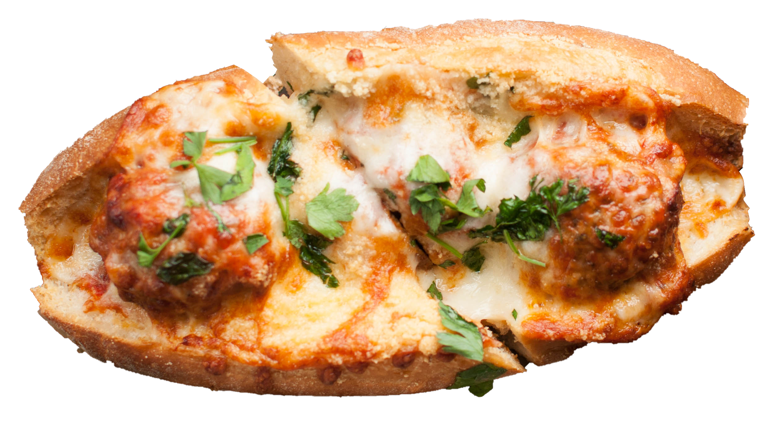 A picture of Twenty Fourth Pizza and meatballs delicious sandwich