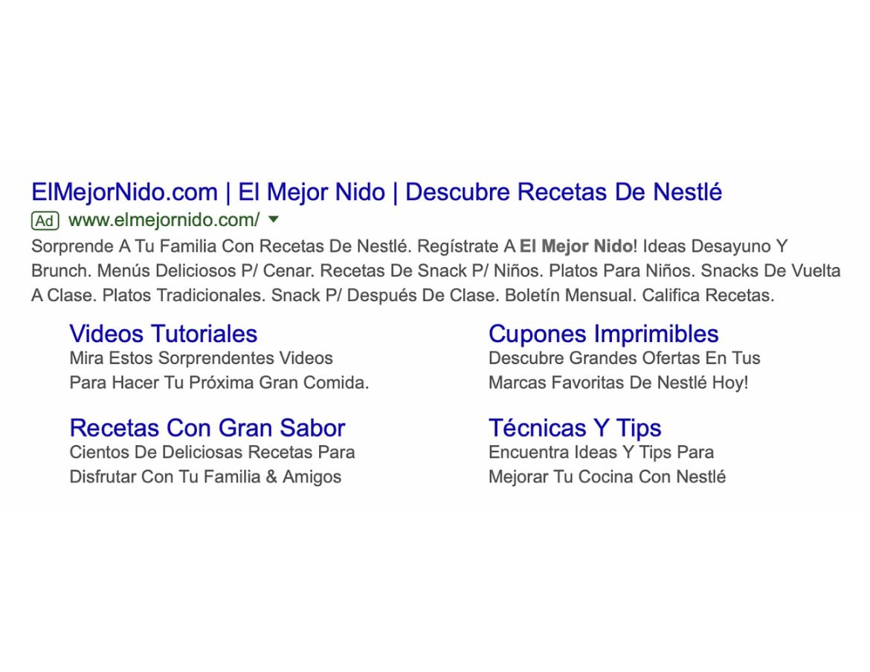 El Mejor Nido is a Spanish media brand under Nestlé.