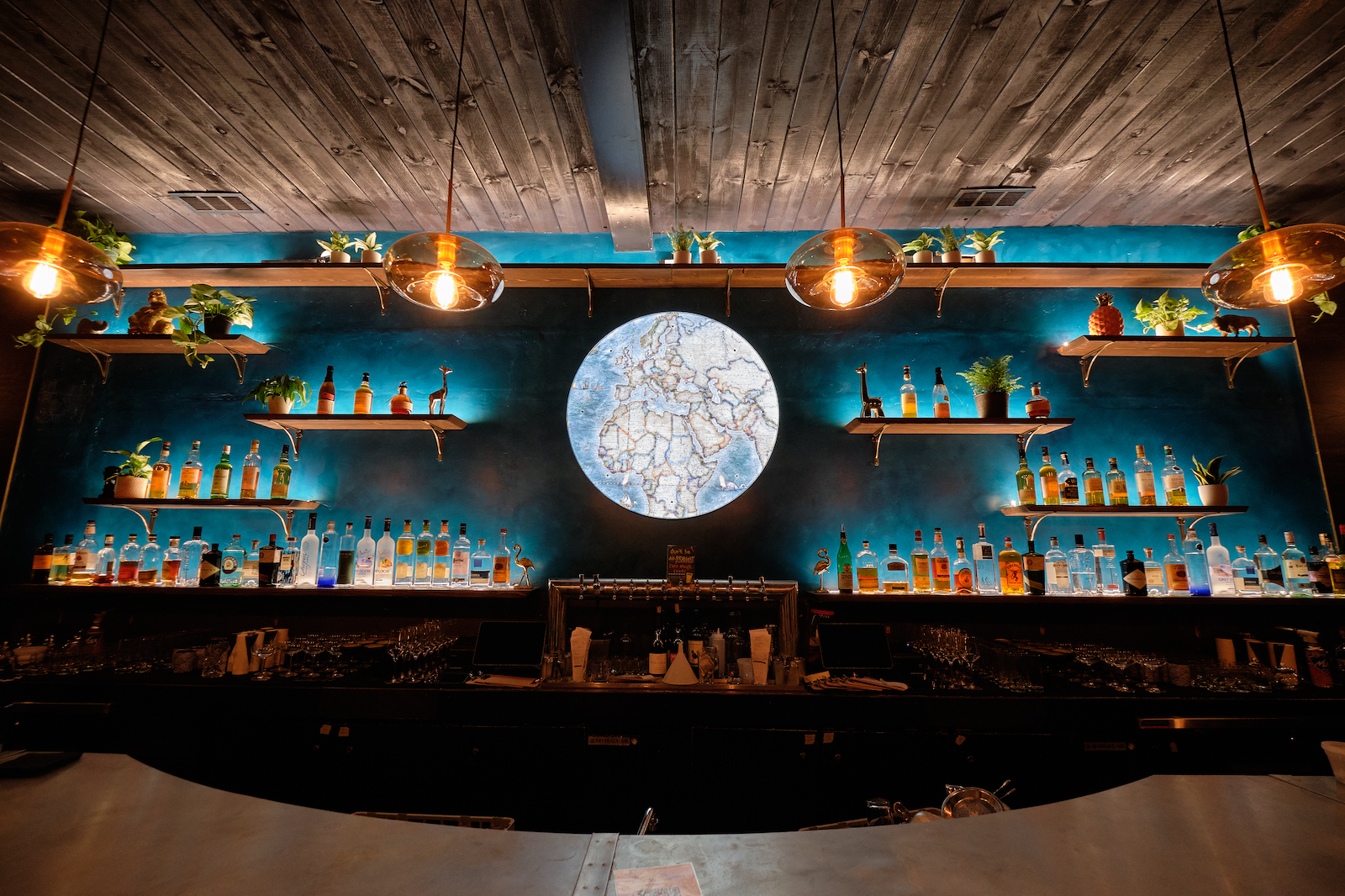 Trade Routes Bar Wide Angle Shot