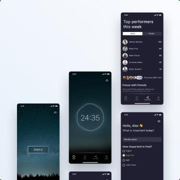 awesomic portfolio mobile application design