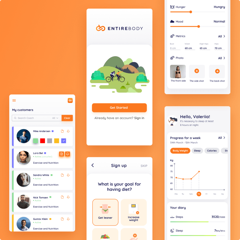 awesomic portfolio mobile app design