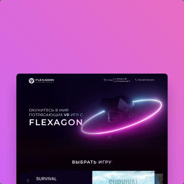 awesomic portfolio flexagon ui ux