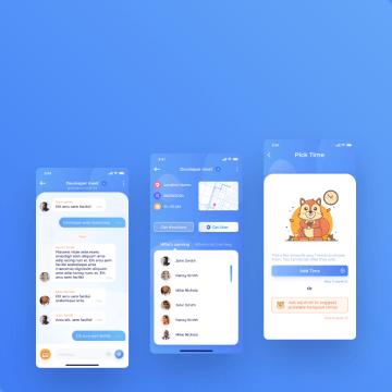 awesomic portfolio mobile design