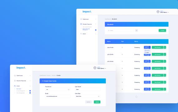 awesomic portfolio web app design