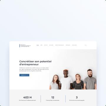 awesomic portfolio website main page design