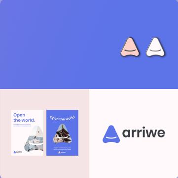 awesomic portfolio logo design arriwe