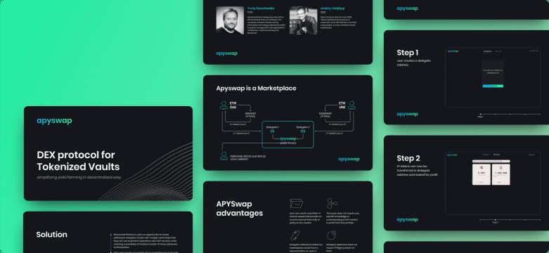awesomic portfolio graphic design pitch deck design