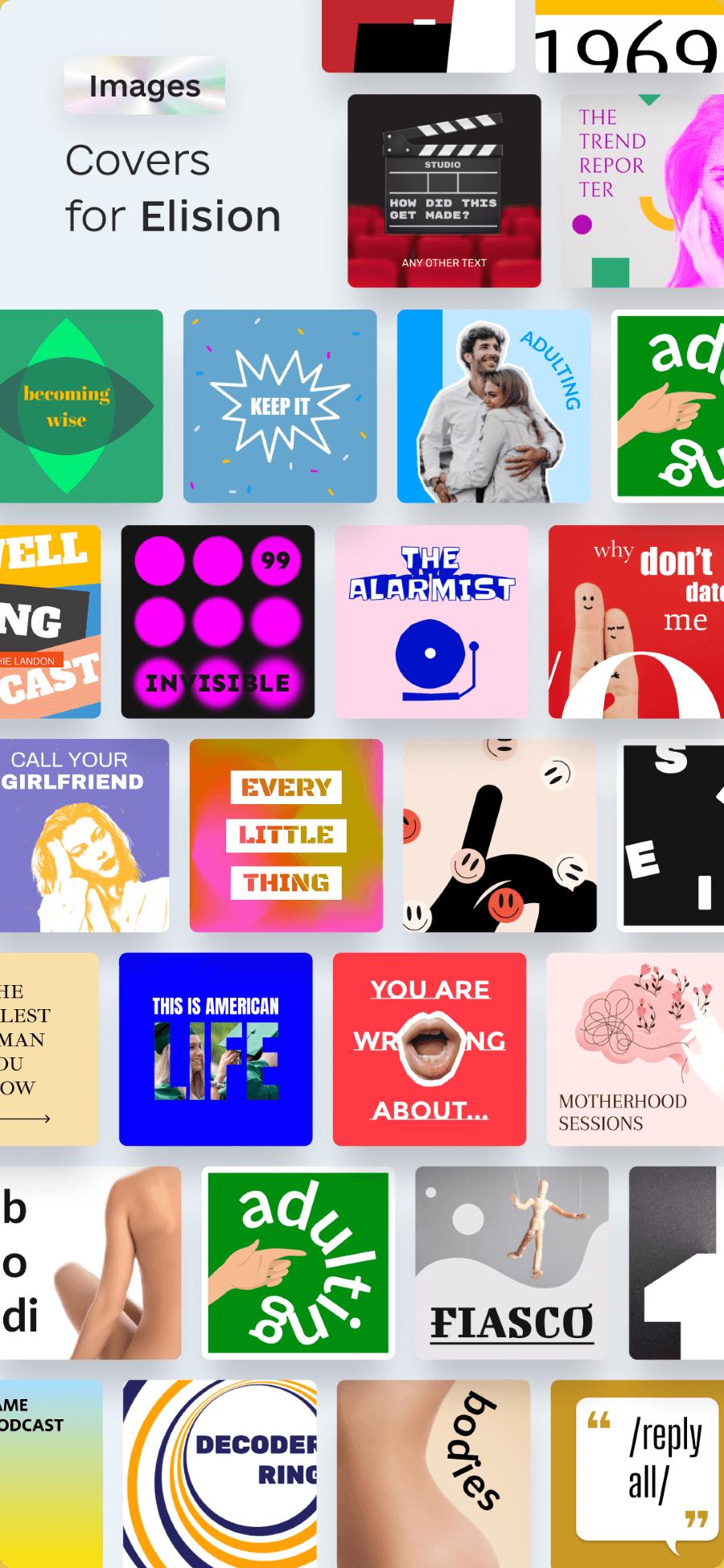 awesomic portfolio graphic design podcast cover design