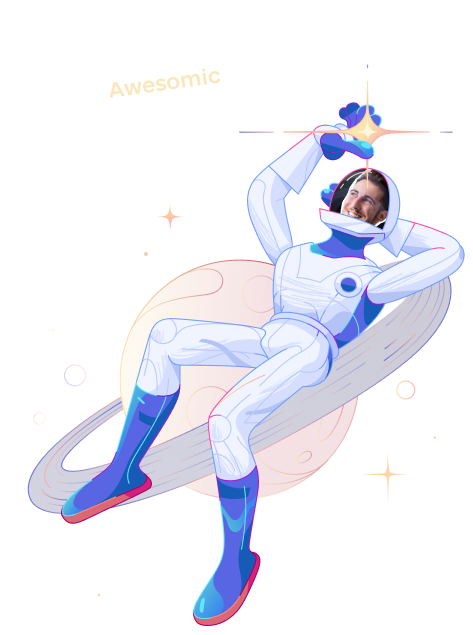 awesomic chill astronaut