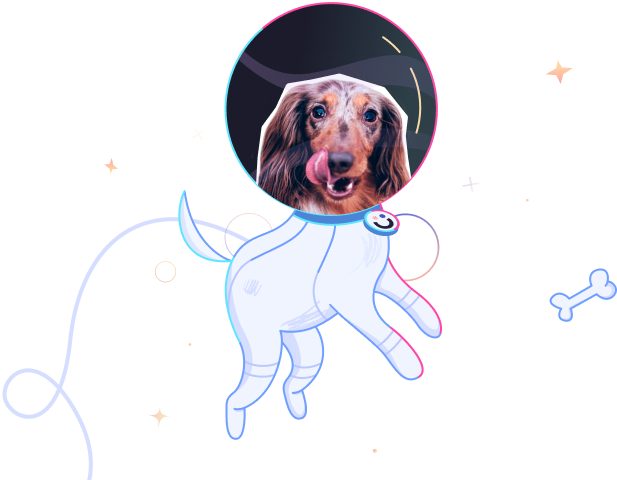 awesomic cosmic dog astronaut