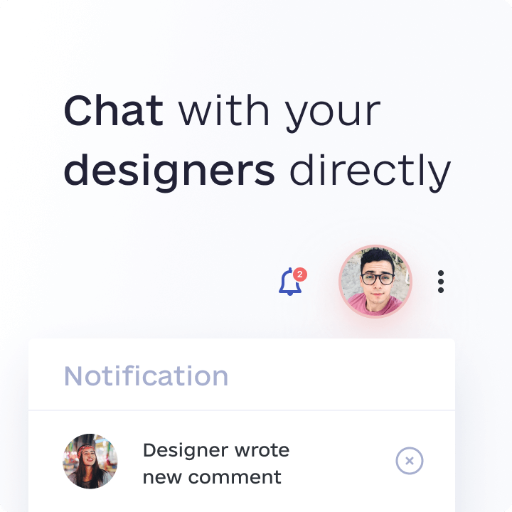 awesomic feature chat with designers