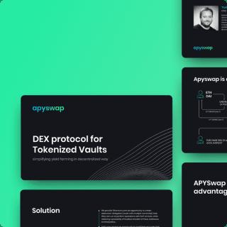 apyswap slides awesomic portfolio