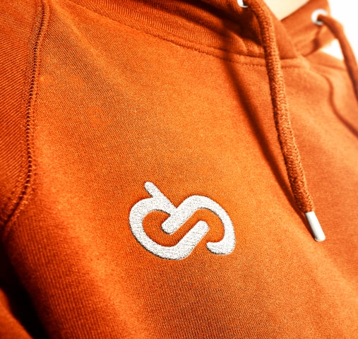 Entirebody logo on a hoodie