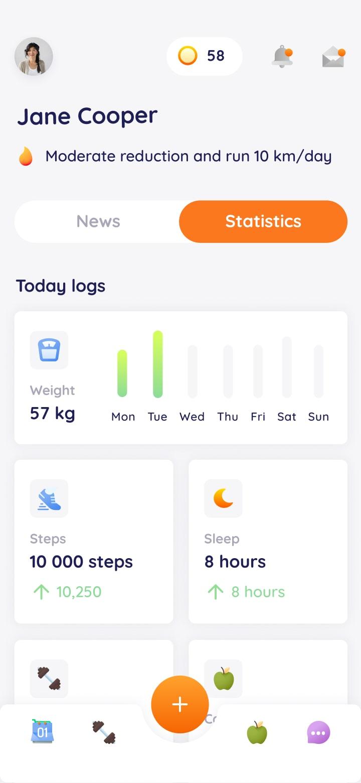 Entirebody mobile app screenshot 2