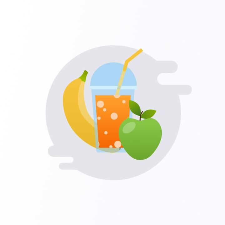 Entirebody icons - healthy snacks
