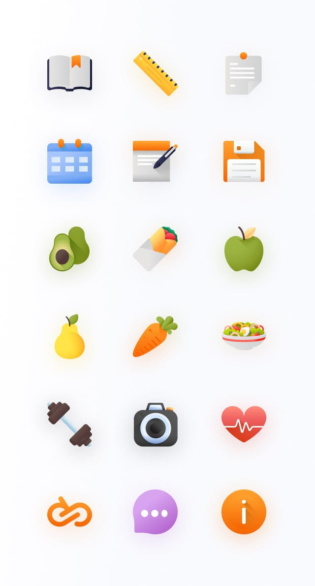 All icons for Entirebody app