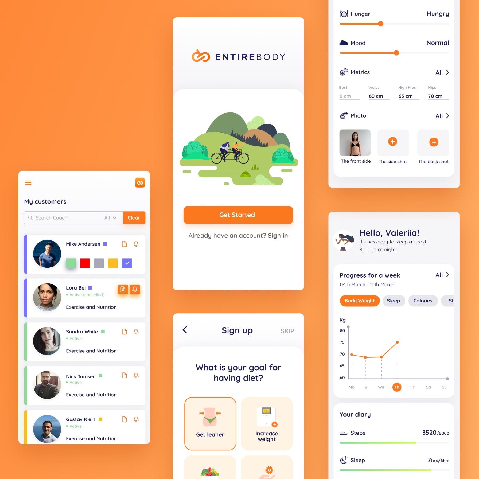 Project for Entirebody Startup