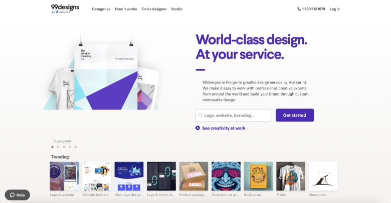 99designs screenshot