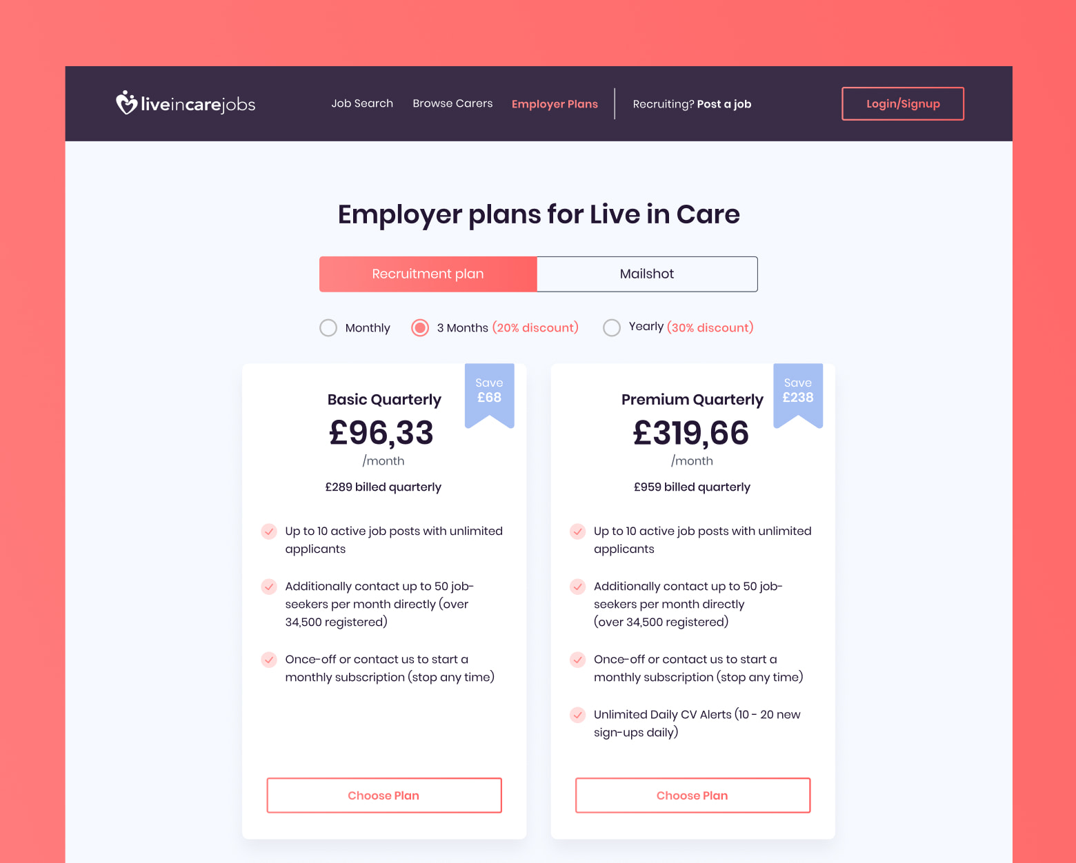 employer plans - live in care jobs case