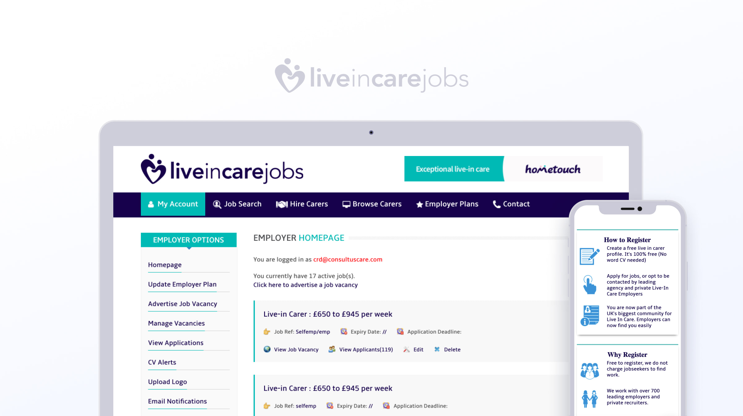 Live in Care jobs before redesigning