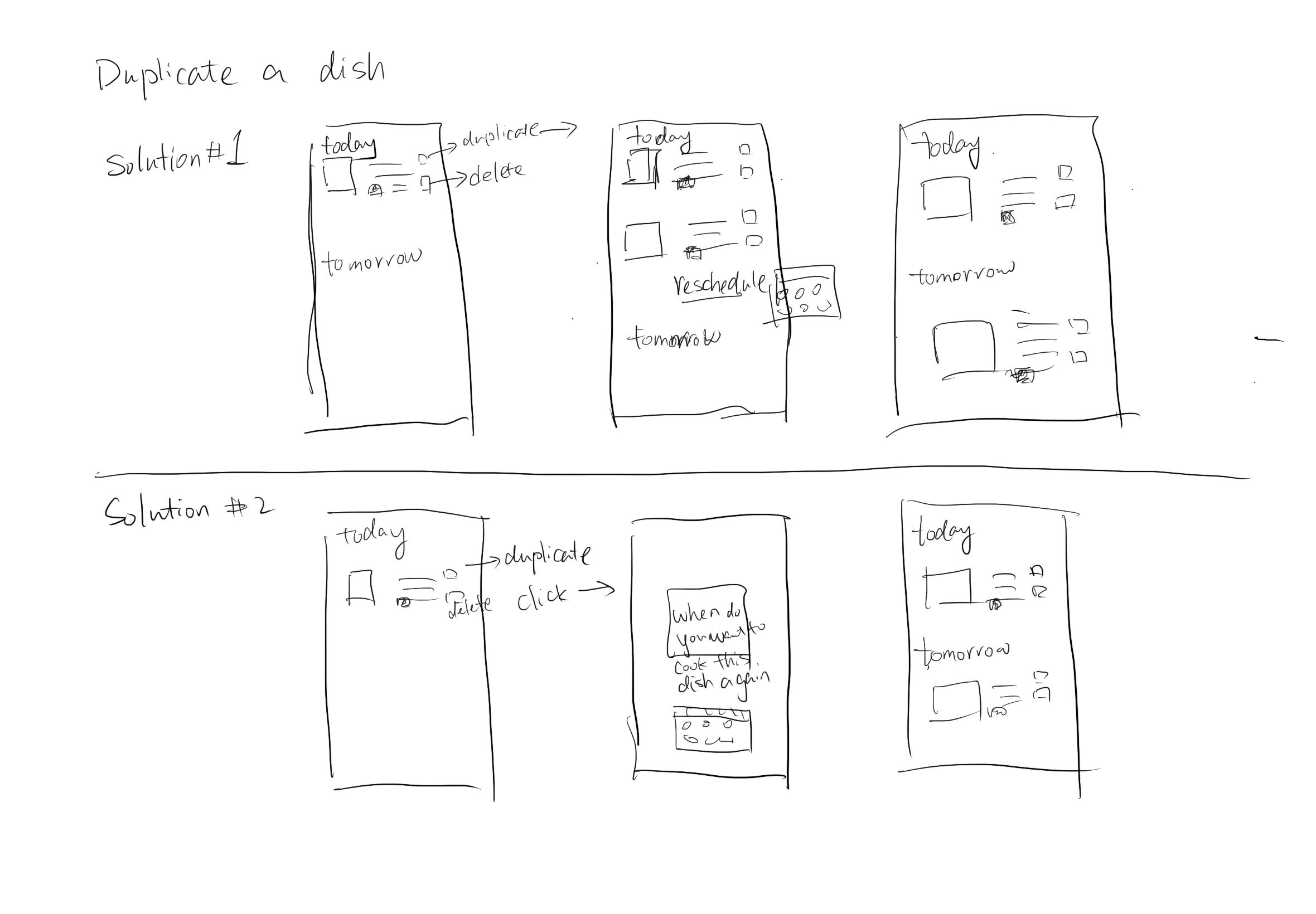 Four step sketch - solution