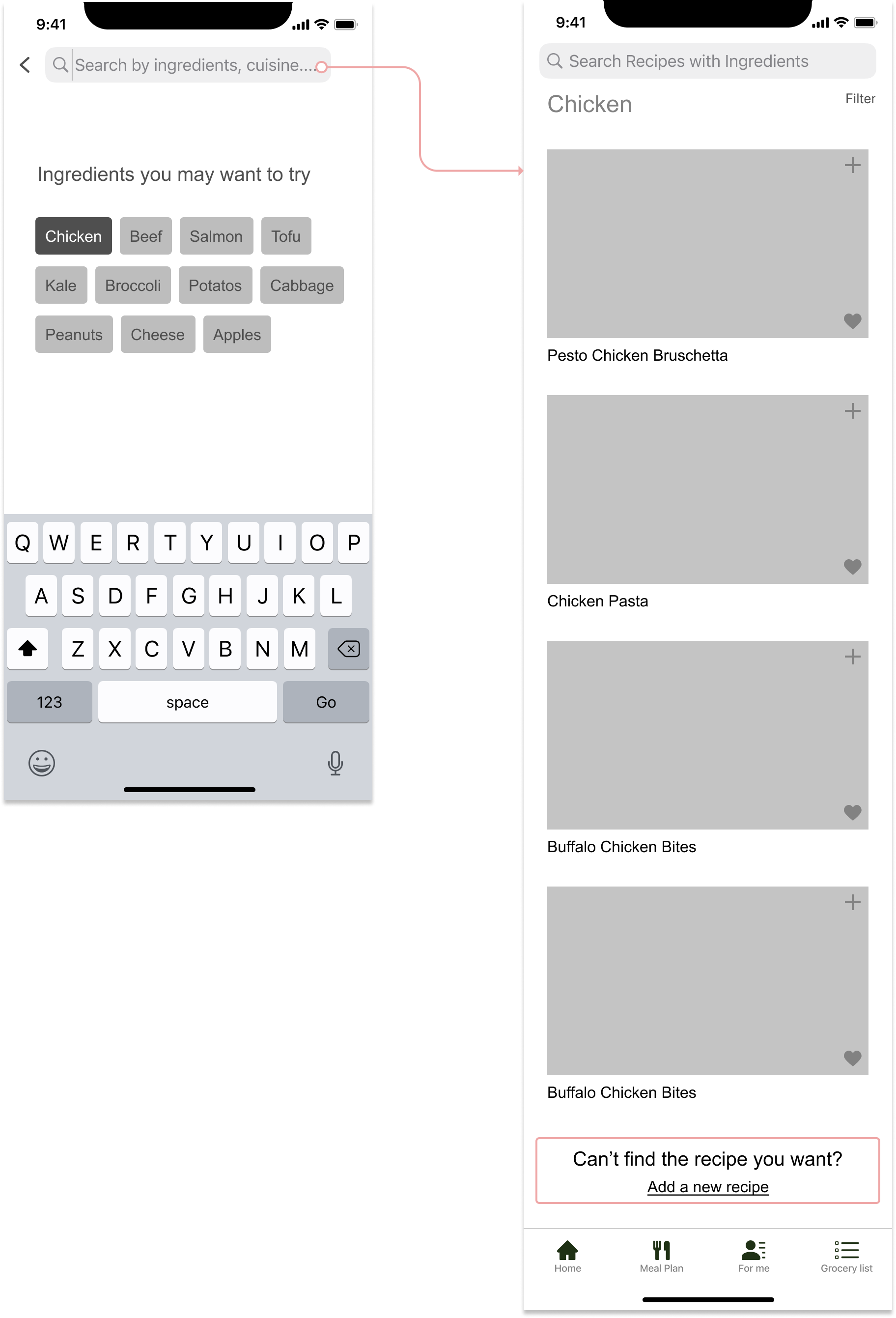 wireframes- search