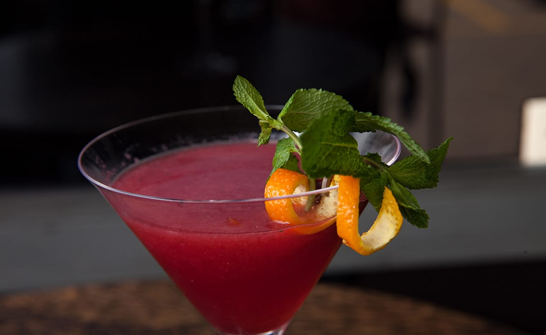 Raspberry & Mint Cosmopolitan