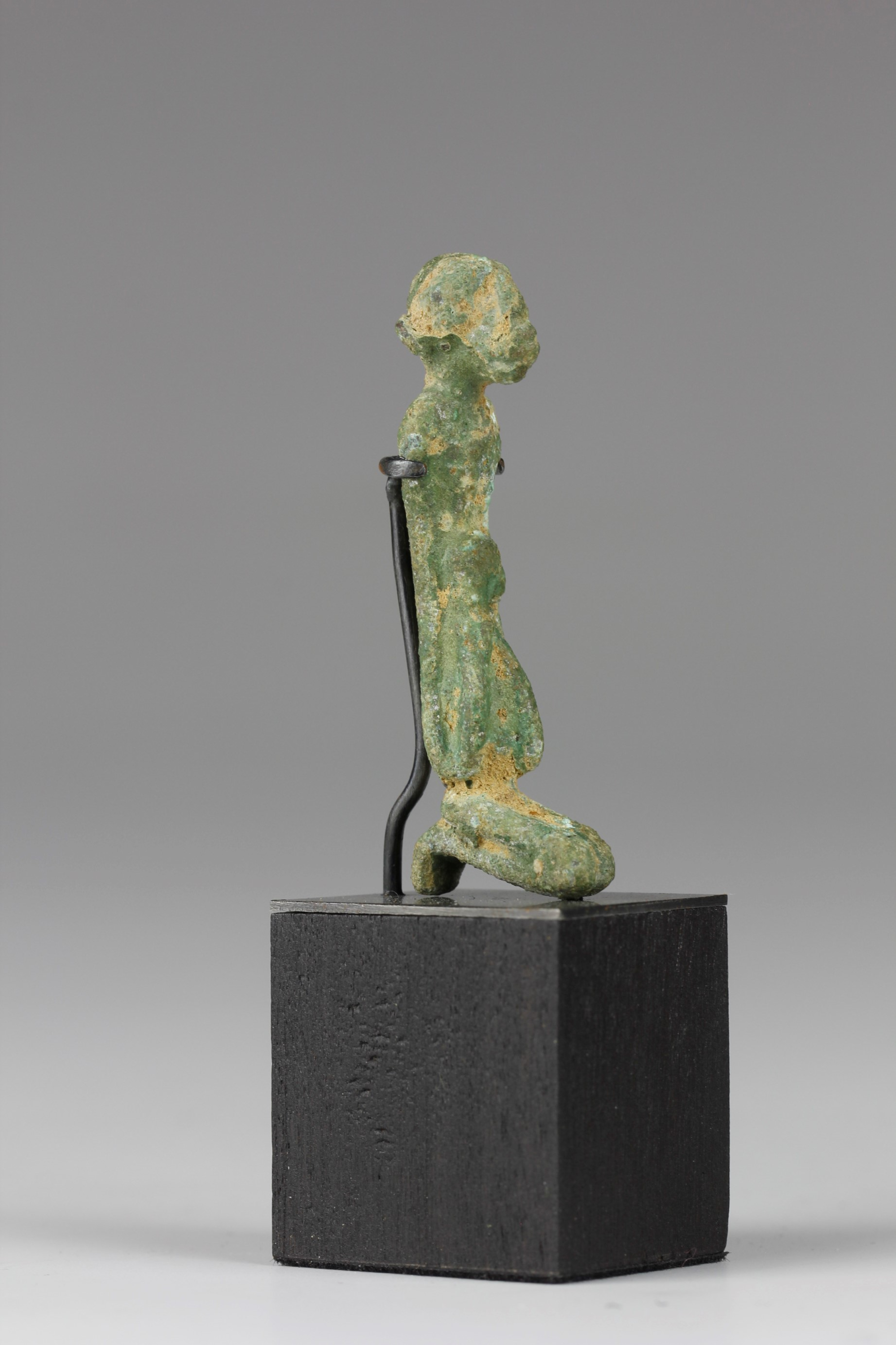 Fine Miniature Bronze Mother and Child