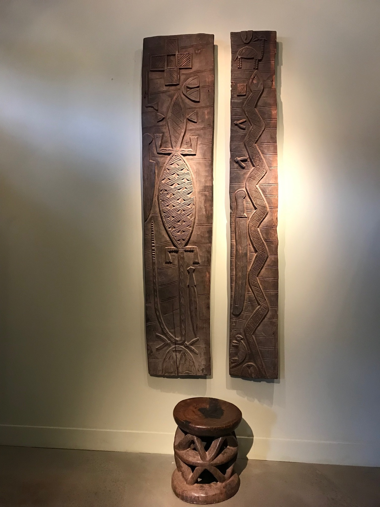 Pair of Early Wooden Doors/Panels
