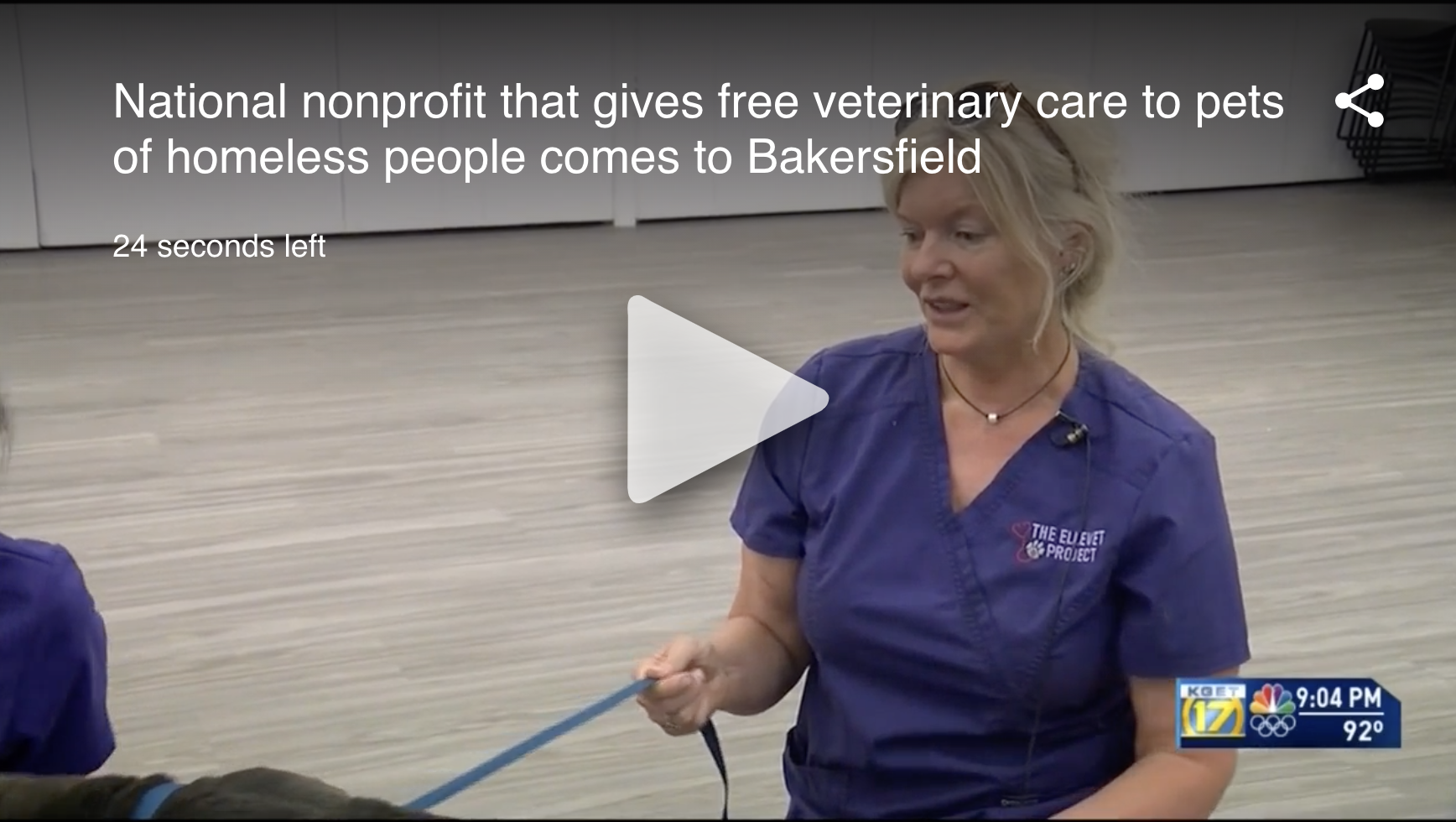 National nonprofit offering free veterinary care, supplies to homeless people's pets in Kern County