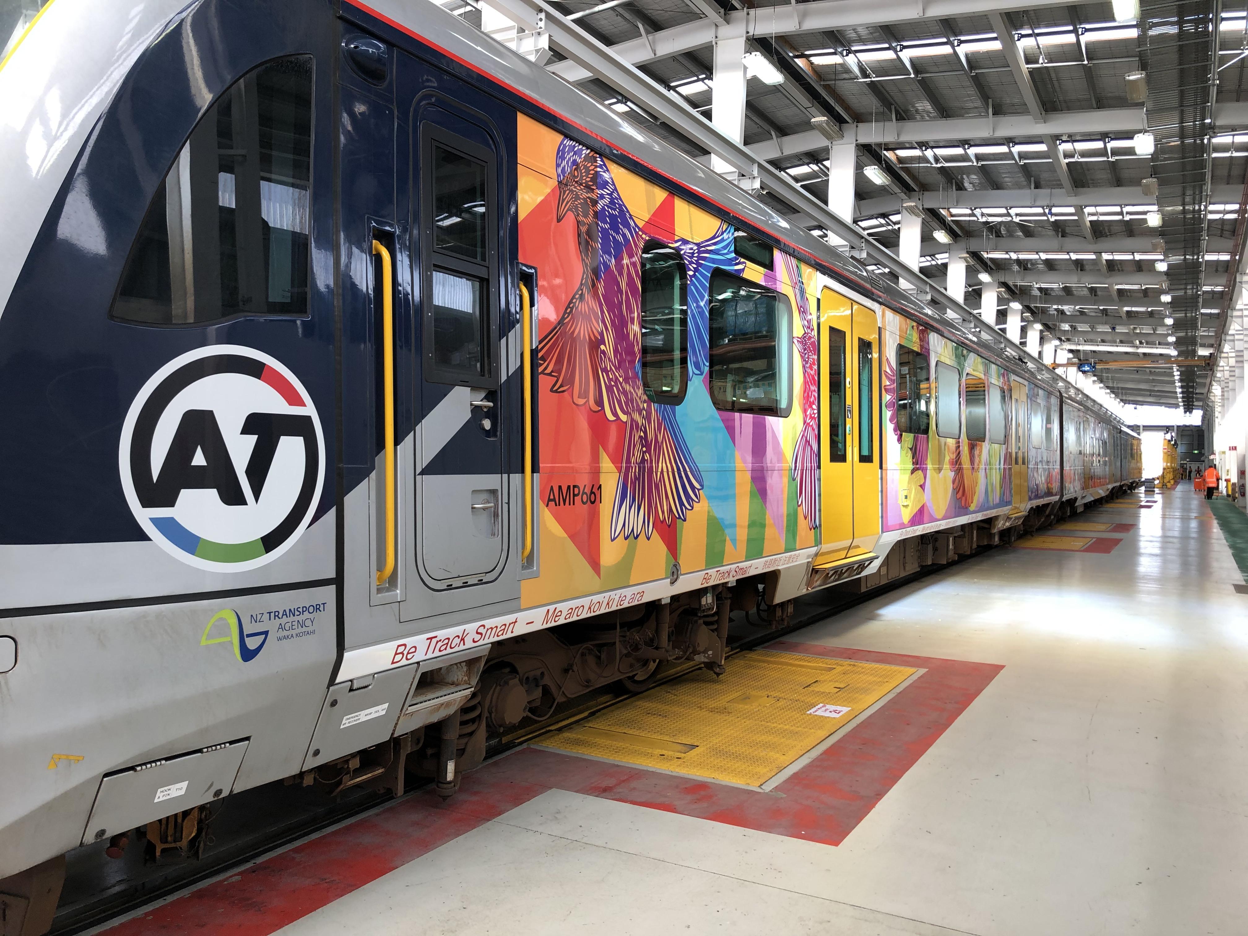 'Look both ways' Train Art