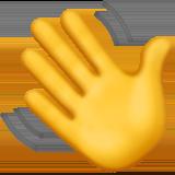 a yellow waving hand emoji
