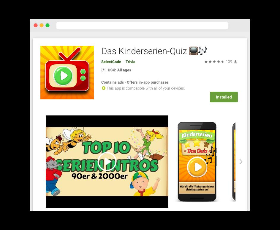Android App zum Schwelgen in Erinnerungen. Mit über 200 Serien wirst du deine Kindheitshelden garantiert wieder entdecken.