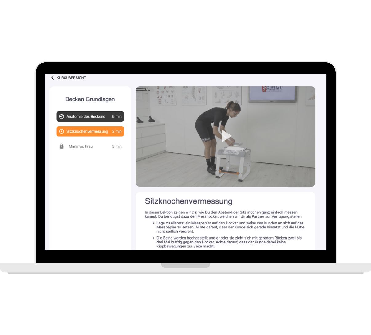 iQlab ist eine E-Learning-Plattform, die digitale Schulungen von Fahrrad-Verkäufer:innen zur Ergonomie ermöglicht.