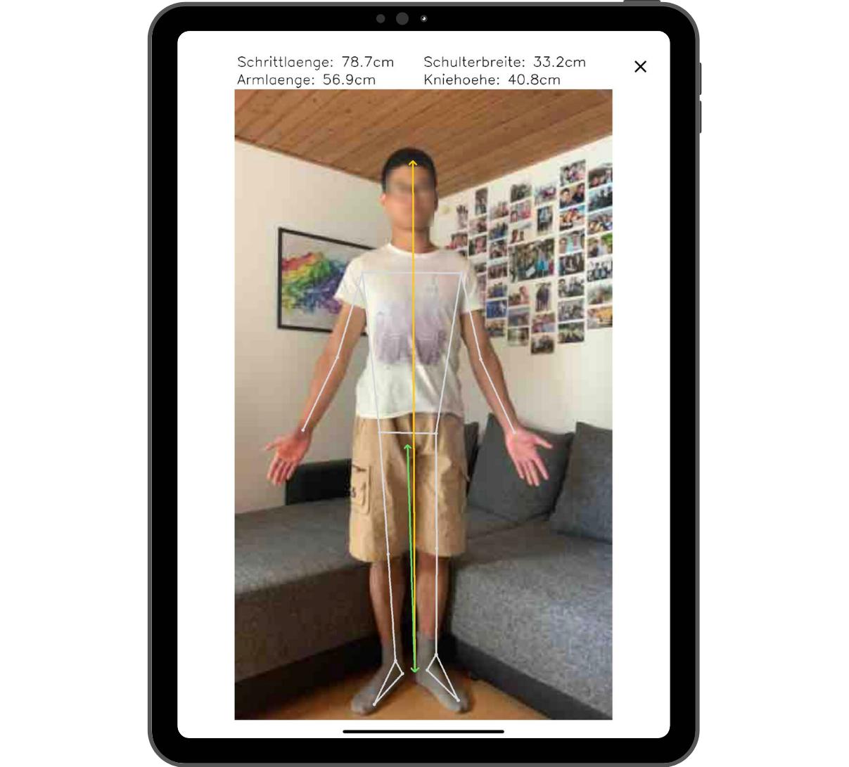 Mit der App können Händler:innen Radbegeisterte digital vermessen und automatisch zu ihnen ergonomisch passende Fahrradprodukte empfehlen.