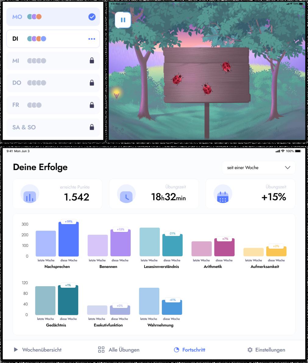 Dashboard-Bild der myReha App