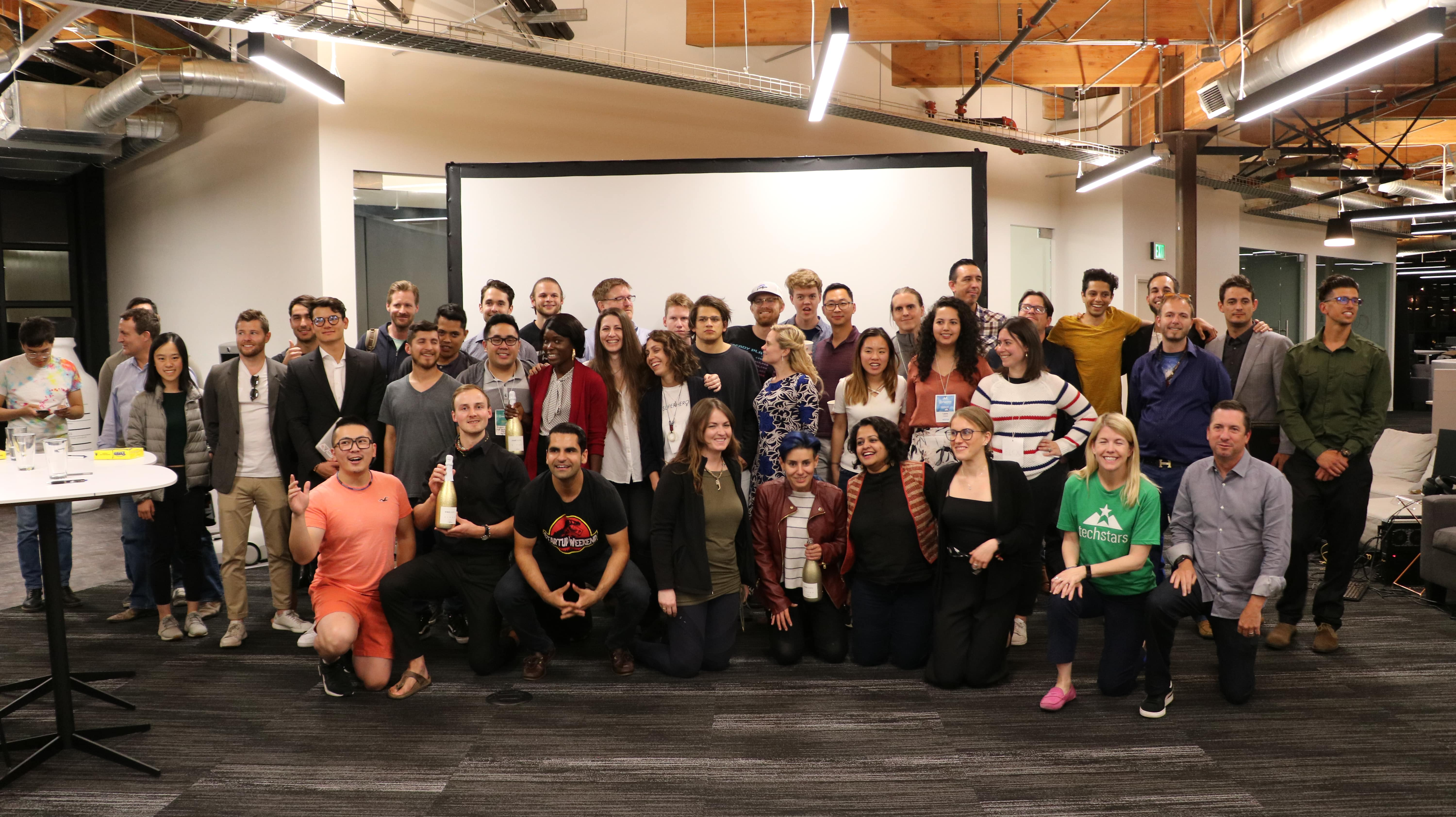 group photo from Techstars Startup Weekend