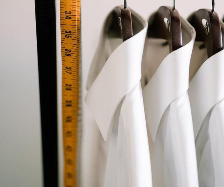 Freshly pressed shirts on hangers