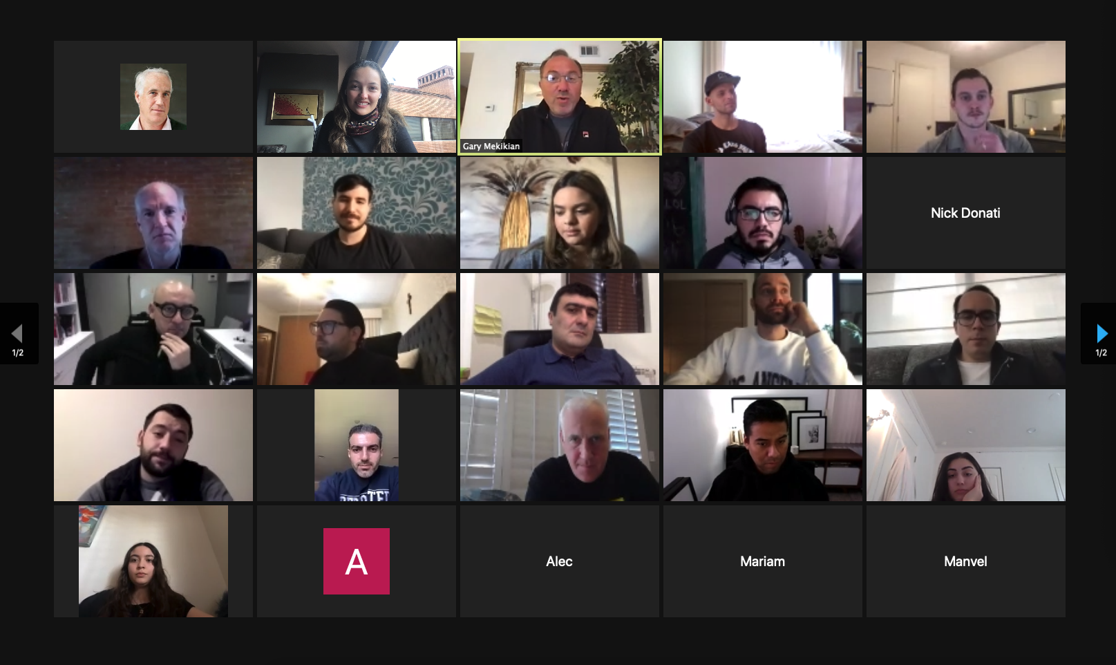 A picture of the TREBEL team wrking remotely